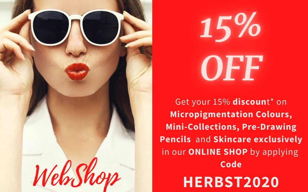 Online SHOP SPECIAL 15% discount
