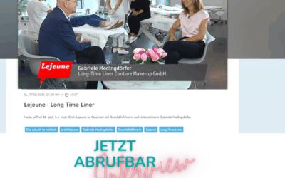 LONG-TIME-LINER® CEO Gabriele Medingdörfer im Interview mit Prof. Erich Lejeune auf münchen.tv